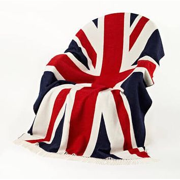 Bronte by Moon Union Jack Merino Lambswool Throw Blanket