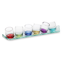 Circleware Moondance 2-Ounce Shot Glass Set with 14
