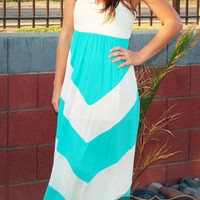 Fun in the sun mint maxi dress