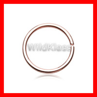 Rose Gold Nose Hoop Bendable 18g Nose Hoop Ring 20g Cartilage Earring Tragus Jewelry Helix Piercing Lip Nipple Piercing Conch Earring Daith