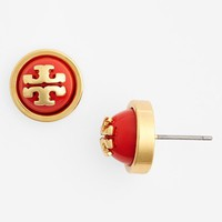 Women's Tory Burch 'Melodie' Logo Stud Earrings