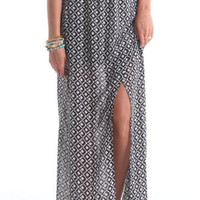 Nollie Black White Wrap Front Maxi Skirt at PacSun.com