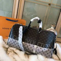 LV KEEPALL limited fashion women's handbag travel bag