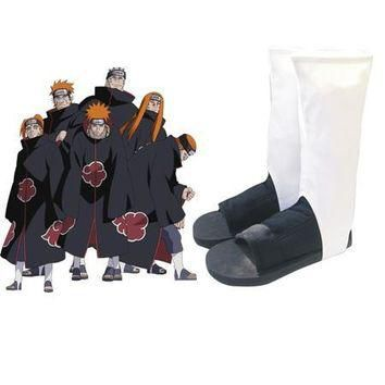 Free Shipping Naruto Akatsuki Organization Ninja Shoes Anime Cosplay Accessories