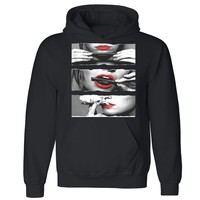 Zexpa Apparel™ Blunt Roll Sexy Red Lips Unisex Hoodie Legalize Weed 420 Joint Hooded Sweatshirt