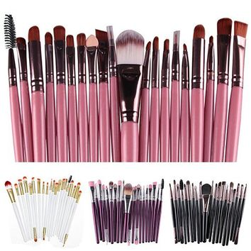 BEST SALE Hot 20X Makeup Set Powder Foundation Eyeshadow Eyeliner Lip Cosmetic Beauty Brushes AOZ3
