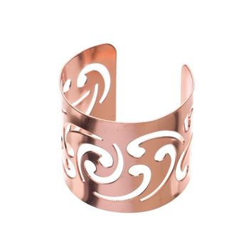 Metal Napkin Rings - Swirl (Rose Gold)