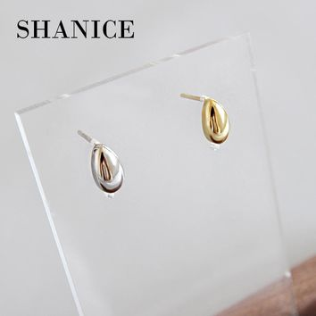 fd5a01ce4 SHANICE 925 sterling silver Simple Style Oval Drop Shape Ear St. Earring  Type: Stud ...