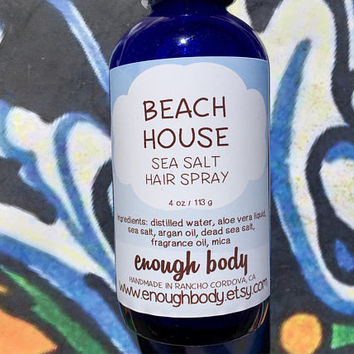 Beach House Sea Salt Hair Spray ~ Texture Spray ~ Hair Mist ~ Scented Hair Spray ~ Salt Spray ~ Beach Waves Spray~ Hair Perfume