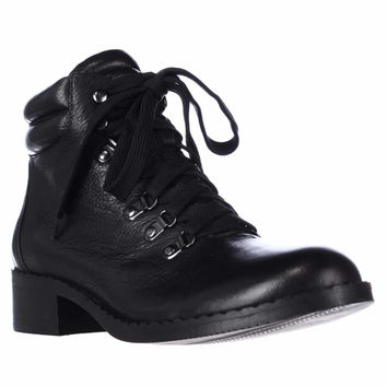 Gentle Souls by Kenneth Cole Brooklyn 2 Lace Up Ankle Boots - Black