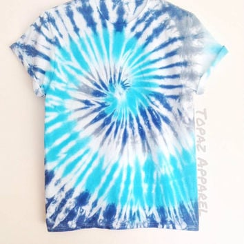 Cool Blue Tie Dye Shirt