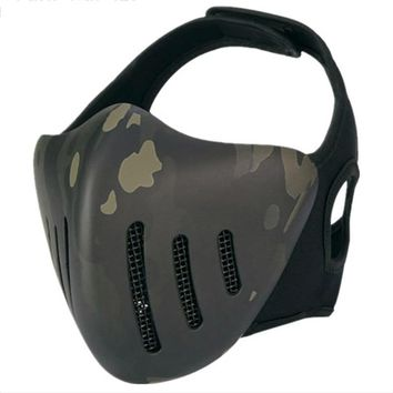 Tactical Airsoft Cool Half-Face Mask CS Game Paintball Mask Halloween Mask Attractive Masquerade Party Face Mask