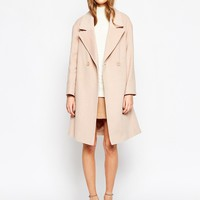 Helene Berman Pale Pink Double Button Coat at asos.com