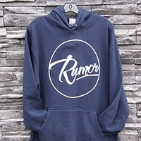 Rumor Boardshop — Mens Navy Classic Rumor Hoodie