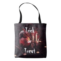 Rustic Halloween Pumpkin and Candles Tote Bag