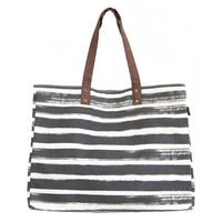 Stripes Charcoal Carryall