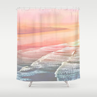 pink ocean Shower Curtain by  Alexia Miles photography