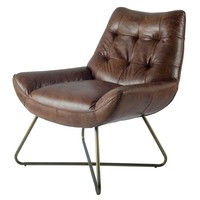 Reginald Leather Chair Tobacco