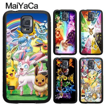 MaiYaCa Anime s Collage Soft TPU Phone Case Cover Coque For Samsung S4 S5 S6 S7 edge S8 S9 plus Note 8 5 4 CapaKawaii Pokemon go  AT_89_9
