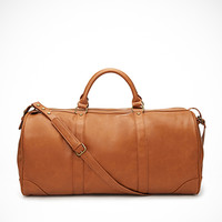 Faux Leather Weekender Bag