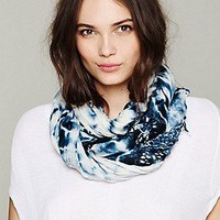 Gypsy 05  Tie Dye Macrame Fringe Scarf at Free People Clothing Boutique