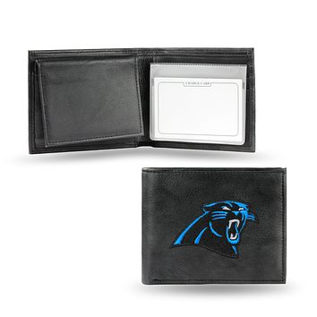 Carolina Panthers Embroidered Leather Billfold