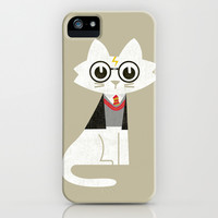 Mark - The Harry Potter Cat iPhone & iPod Case by Budi Satria Kwan