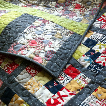 Modern quilt - An Elephant Never Forgets