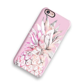 Pretty Pineapple iPhone 7 Case Gifts Under 30 Pineapple iPhone 6 Case Pineapple iPhone Case iPhone SE Case Wood Samsung Galaxy S8 Case Tough