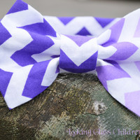 Boys Purple Bow tie Chevron Toddler Bow tie Bowtie Velcro bow tie Wedding bow tie Easter Bow tie Ring bearer outfit Baby Infant bow tie