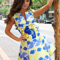 Multicolor Floral Dress 20120 - Short Dresses | Cocktail Dresses
