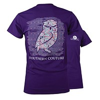 Southern Couture Preppy Olivia the Owl T-Shirt