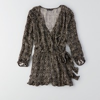 AEO PATTERNED WRAP ROMPER