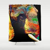Elephant Shower Curtain by Knm Designs