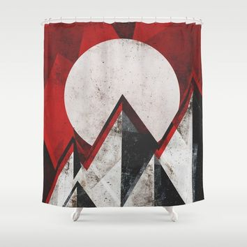 Mount kamikaze Shower Curtain by HappyMelvin