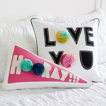 Peppy Poms Pillow/ Pillow Cover