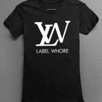 Label Whore - Louis Vuitton Parody - Black Tshirt - women and mens clothing
