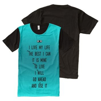 Live Quote by Kat Worth Men's All-Over-Print T-Shirt
