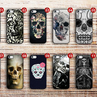 samsung galaxy s5 case flower skull cover for s3 s4 s5 s6 edge a3 a5 a7 note 3 note 4 note edge active mini skull1