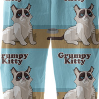 grumpy cat pants created by GossipRag | Print All Over Me