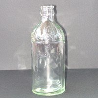Vintage Glass Bottle  Written /// Embossed - Real Vinícola, Crown and Grapes  - Port