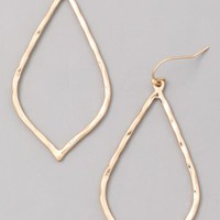 Sun Stone Teardrop Earrings - Gold