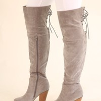 OTK LACE UP BOOTS - GREY