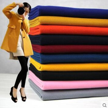 Good 150*50cm 2pc Thicken Wool/Polyester Fabric Wool Fabric Patchwork Fabric Sewing Material Diy Winter Women Man Coat Jacket