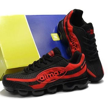 NIKE Wave Rider18 Fashionable Men Casual Running Sport Shoes Sneakers Black/Red