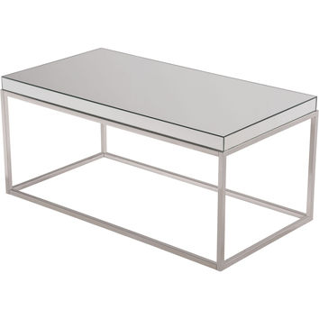 "Contempo 42""x22""x19"" Mirrored Coffee Table"
