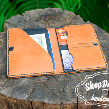 Leather Document Holder Document Wallet Travel Case