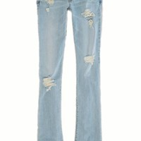 AEO 's Skinny Kick Jean (Light Destroy Vintage)