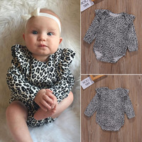 Cotton Newborn Infant Baby Girls Clothes Bodysuit Long Sleeve Cute Baby Girl Jumpsuit Clothing Outfits