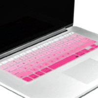 Pink Ombre Gradient Macbook Keyboard Cover